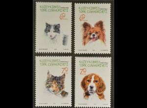 Zypern türkisch Cyprus Turkish 2015 Nr. 812-15 Katzen Hunde Haustiere Fauna