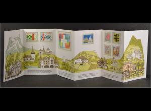 Schweiz PTT Faltkarte 700 Jahre Eidgenossenschaft 1291-1991