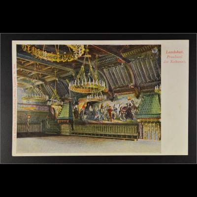 Ansichtskarte Landshut an der Isar Ndb. Prunktsaal des Rathauses