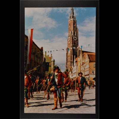Ansichtskarte Landshut an der Isar Landshuter Hochzeit Festzug