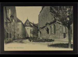 Ansichtskarte Landshut an der Isar Ndb. Altstadt St. Martin Friedhof
