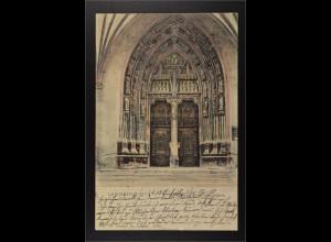 Ansichtskarte Landshut an der Isar Ndb. Portal der Heilig Geist Kirche
