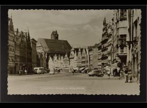 Ansichtskarte Landshut an der Isar Ndb. Altstadt mit Heilig Geist Kirche