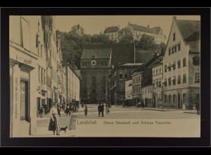 Ansichtskarte Landshut an der Isar Ndb. Obere Neustadt Schloss Trausnitz