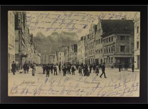 Ansichtskarte Landshut an der Isar Ndb. Obere Neustadt Burg Trausnitz