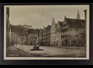 Ansichtskarte Landshut an der Isar Ndb. Neustadt Kriegerdenkmal