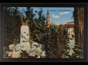Ansichtskarte Landshut an der Isar Ndb. Schiller Denkmal