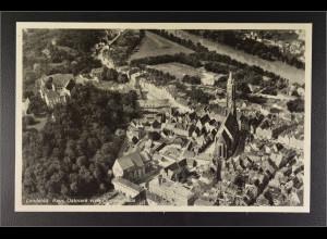 Ansichtskarte Landshut an der Isar Ndb. Stadtansicht vom Flugzeug aus