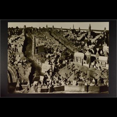 Ansichtskarte Landshut um 1570 Modell aus Lindenholz von Jakob Sandtner
