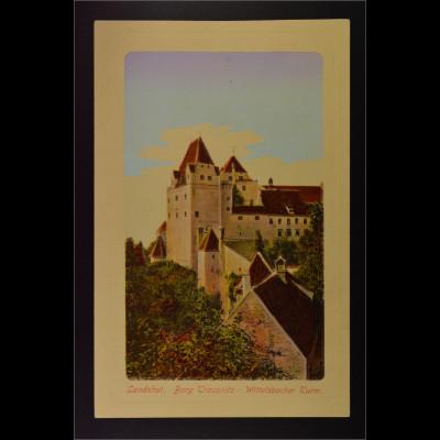 Ansichtskarte Landshut an der Isar Ndb. Burg Trausnitz Wittelsbacher Turm