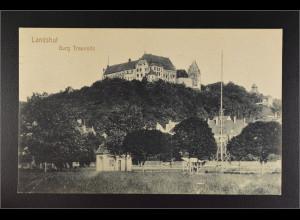 Ansichtskarte Landshut an der Isar Ndb. Burg Trausnitz gestempelt 24.6.1916