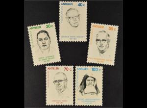 Niederländische Antillen 1992 MiNr. 754-58 Angela de Lannoy-Willems Cyrus Wathey