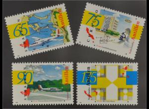 Niederländische Antillen 1993 Michel Nr. 772-75 Flughafen Prinzessin Juliana