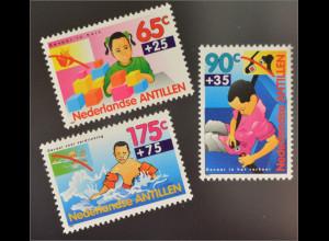 Niederländische Antillen 1993 Michel Nr. 785-87 Jugendwohlfahrt Sicherheit