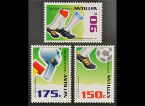 Fußball Weltmeisterschaft USA Niederländische Antillen 1994 Michel Nr. 806-08