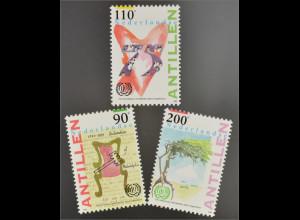 Briefmarkensatz Emblem der IAO Deklaration von Philadelphia 1944 Herz