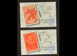 Niederländische Antillen 1994 MiNr. 816-17 A Briefmarkenausstellung FEPAPOST