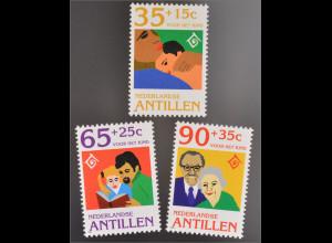 Niederländische Antillen 1994 MiNr. 818-20 Jahr der Familie Mutter und Kleinkind