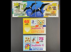 Niederländische Antillen 1995 Michel Nr. 839-42 Denkmal des Sklavenaufstandes