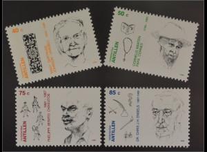 Verdienstvolle Persönlichkeiten Cornelis Marten 1749-1852 Priester 4 Briefmarken