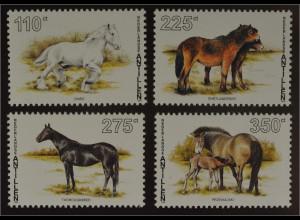 Shire Shetland Pony Englisches Vollblut Przewalski Pferd 4 Pferde Briefmarken