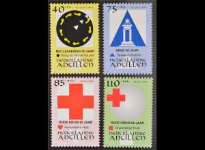 Briefmarkensatz Briefmarkensatz 65 Jahre Rotes Kreuz von Curaçao