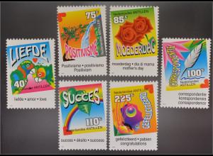 Briefmarken In Liebe Denke positiv zum Muttertag Schreib mal wieder Viel Erfolg