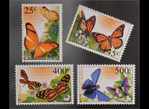 Briefmarken Passionsfalter Dryas julia Monarch Danaus plexippus Mechanitis p.