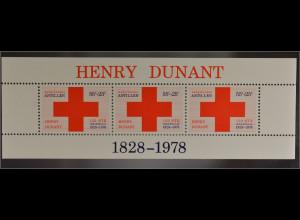 Block Rotes Kreuz 150. Geburtstag von Henri Dunant 1828-1910 Mitbegründer