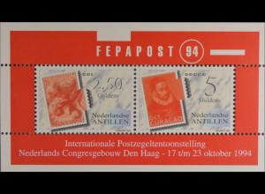 Niederländische Antillen 1994 Block 42 Internationale Briefmarkenausstellung