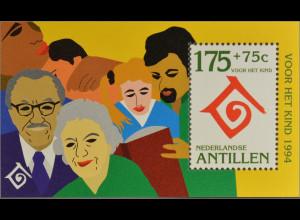 Niederländische Antillen 1994 Block 43 Internationales Jahr der Familie Emblem