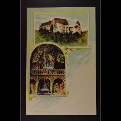 Ansichtskarte Landshut a. d. Isar Ndb. Burg Trausnitz Inneres der Schlosskapelle