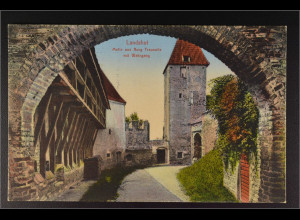 Ansichtskarte Landshut an der Isar Ndb. Motiv aus Burg Trausnitz mit Wehrgang
