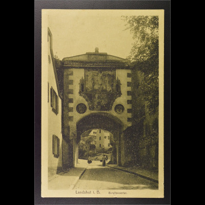 Ansichtskarte Landshut an der Isar Ndb. Burg Trausnitz Burghauser Tor