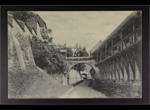 Ansichtskarte Landshut an der Isar Ndb. Schloss Trausnitz Wehrgang