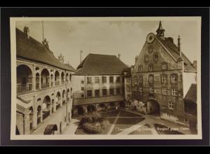 Ansichtskarte Landshut an der Isar Ndb. Burg Trausnitz Burghof gegen Osten