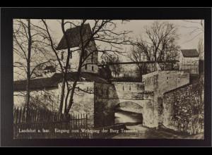 Ansichtskarte Landshut an der Isar Ndb. Eingang zum Wehrgang der Burg Trausnitz