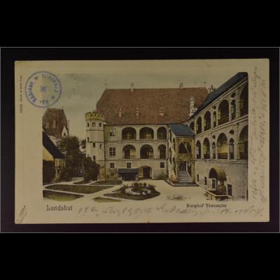 Ansichtskarte Landshut an der Isar Ndb. Burg Trausnitz Burghof