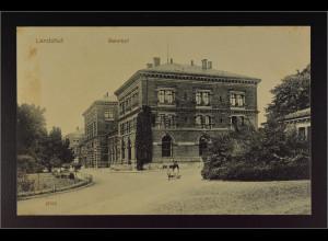 Ansichtskarte Landshut an der Isar Ndb. Bahnhof