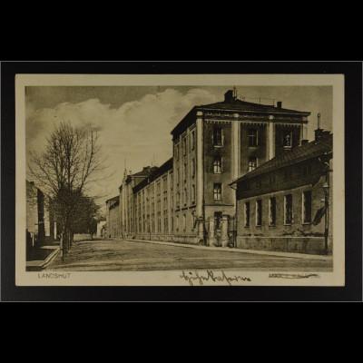 Ansichtskarte Landshut an der Isar Kaserne Max II Feldpost gestempelt 16.3.1943