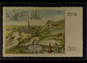 Ansichtskarte Landshut a. d. Isar Stadtansicht nach seltenen Kupferstich um 1570