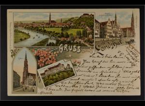 Ansichtskarte Landshut an der Isar Ndb. Königreich Bayern Stadtansicht