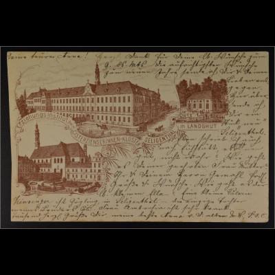 Ansichtskarte Landshut Erziehungsinstitut Cisterzienserinnen Kloster Seligenthal