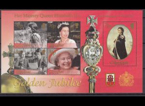 Gibraltar 2002 Michel Nr. Block 49 50 Jahre Thronbesteigung Königin Elisabeth