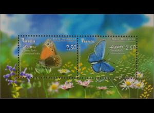 Bosnien Herzegowina 2016 Block 56 Schmetterlinge Fauna Falter Leptiri