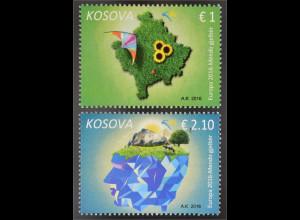 Kosovo 2016 Nr. 338-39 Europa Think Green Ökologie Umweltbewusst leben Natur