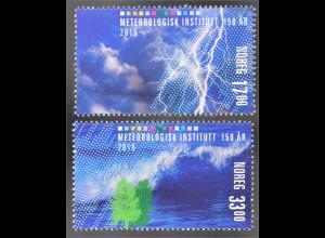 Norwegen Norway 2016 MiNr. 1916-17 150 Jahre Meteorologisches Institut Blitze
