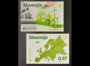 Slowenien Slovenia 2016 Nr. 1199-1200Europa Think Green Ökologie Umweltschutz