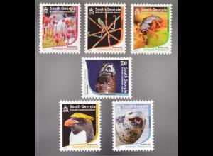 Süd Georgien Südl. Sandwichinseln 2015 Michel Nr. 664-69 Biologische Vielfalt