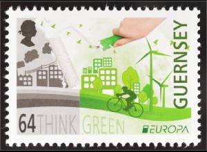 Guernsey 2016 Nr. 1560 Europa Think Green Ökologie Umweltbewußtsein